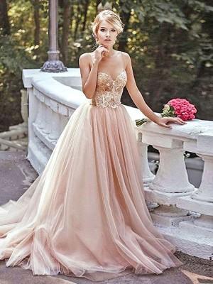 A-Linien-/Princess-Stil Herzausschnitt Pinselschleppe Tüll Abschlussballkleid mit Perlenstickereien
