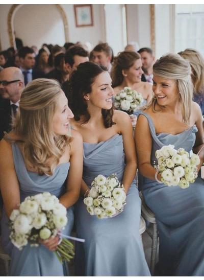A-Linien-/Princess-Stil Herzausschnitt Chiffon Bodenlang Ärmellos Brautjungfernkleid