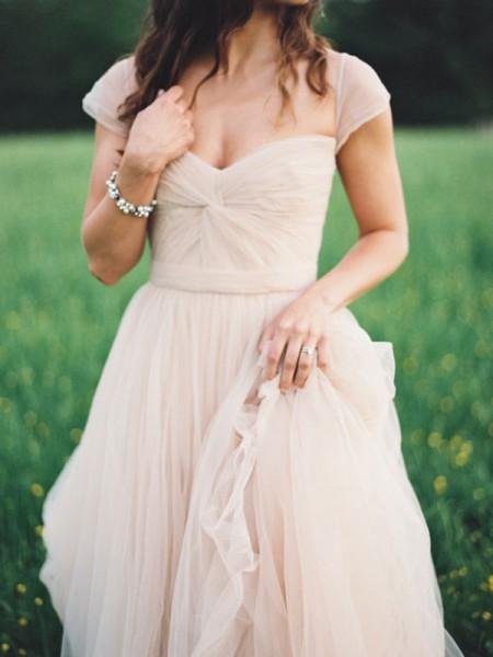 A-Linien-/Princess-Stil Herzausschnitt Bodenlang Chiffon Abendkleid mit Rüschen